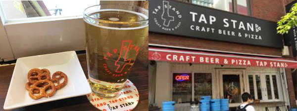 ビールと店舗のイメージ